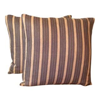 Rogers & Goffigon Linen Striped Pillows - Pair