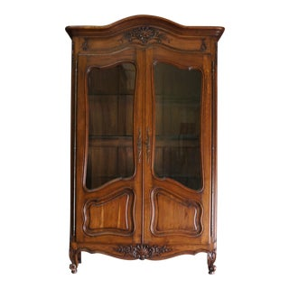 Antique French Provincial Armoire / Display Cabinet