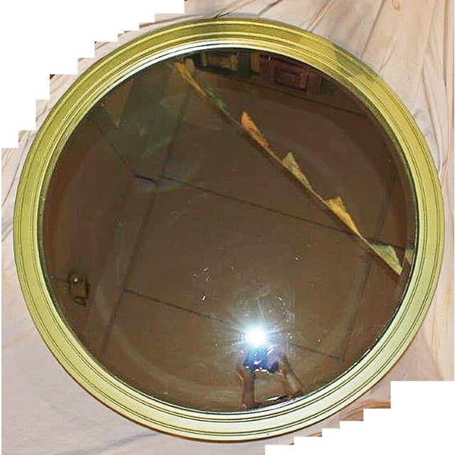 Large Round Painted Mirror - Image 2 of 5
