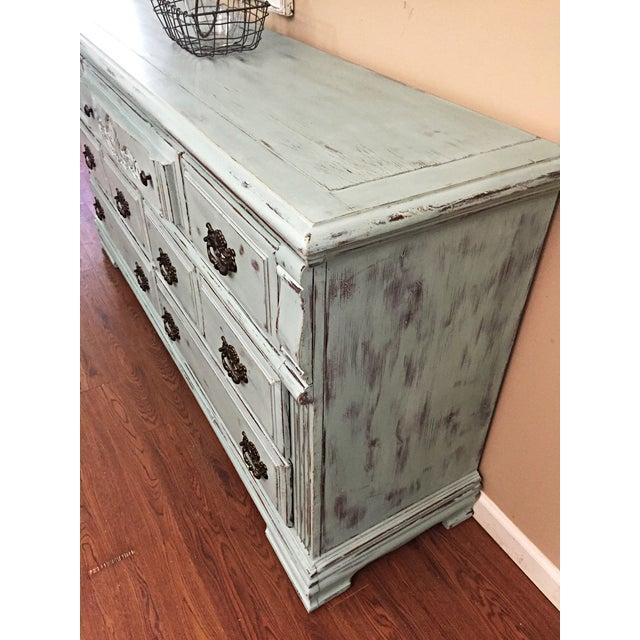 Vintage Distressed 7-Drawer Dresser - Image 8 of 10