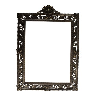 Vintage Brass Rococo Picture Frame