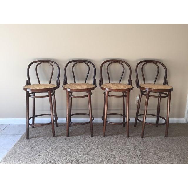Thonet Style Bentwood Bar Stools - Set of 4 - Image 2 of 11