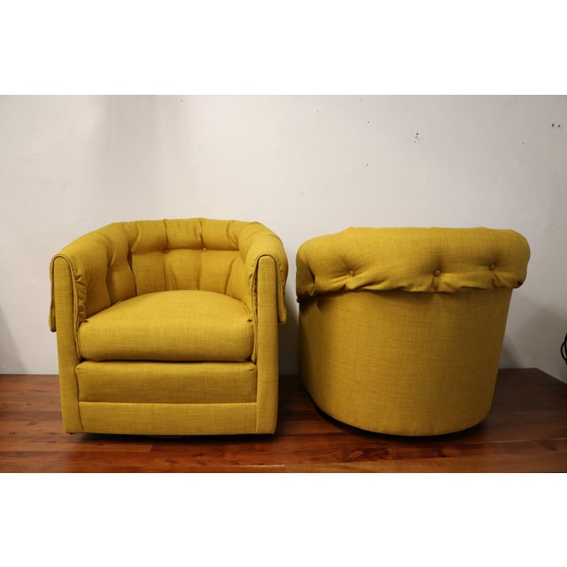 Vintage Swivel Lounge Chairs - A Pair - Image 5 of 6