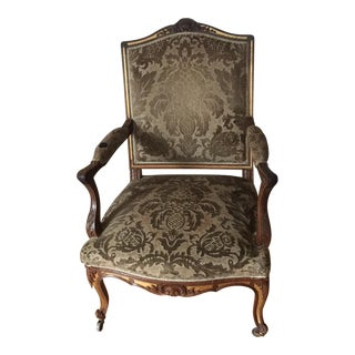 French Damask Chair