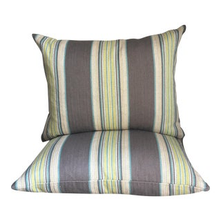Espadrille Stripe Pillows- A Pair