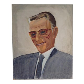 Mid-Century Painting of a Gentleman