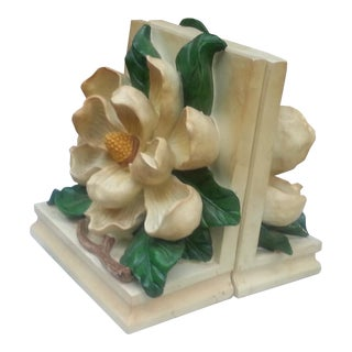 Floral Motif Bookends - A Pair