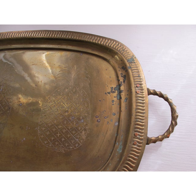 Image of Vintage Brass Pineapple Tray