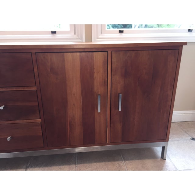 Room & Board Cherry Wood Custom Credenza - Image 8 of 10