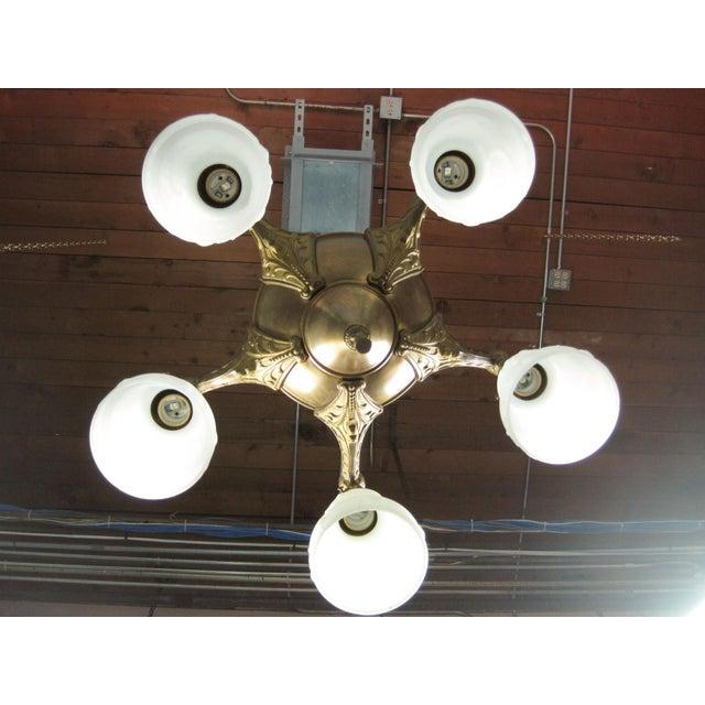 Original Pan Light Fixture (5-Light) - Image 5 of 8