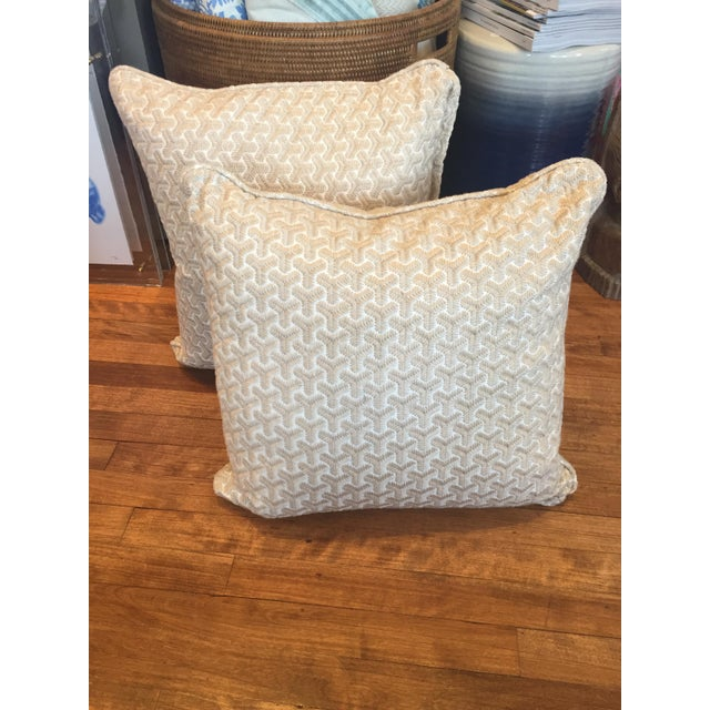 Geometric embroidered pillows a pair chairish