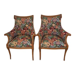 Pair Grosfeld House Fireside Club Side Chairs