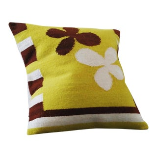 Chocolate Charms Handwoven Wool Pillow