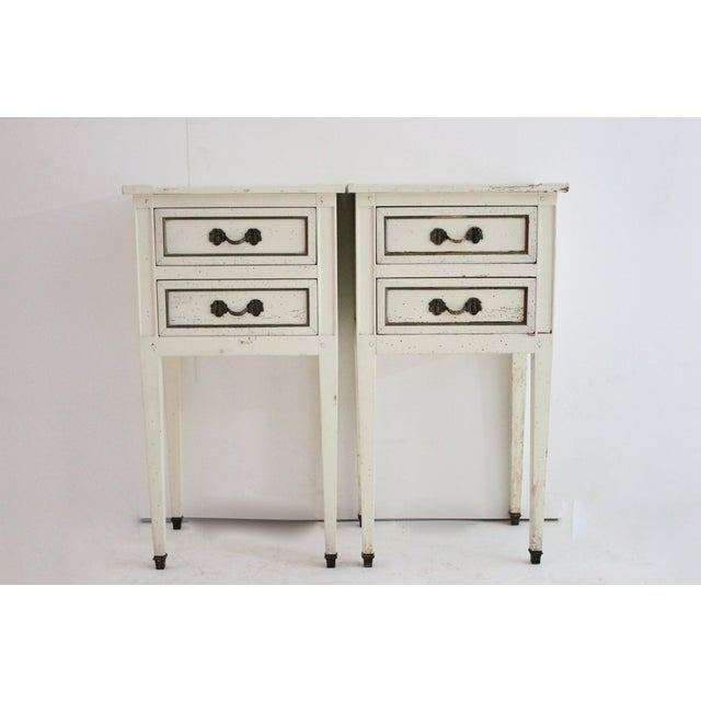 G.E.K.A. Distressed Nightstands- A Pair - Image 2 of 5