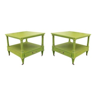 Mid-Century Two Tiered Side Tables - A Pair