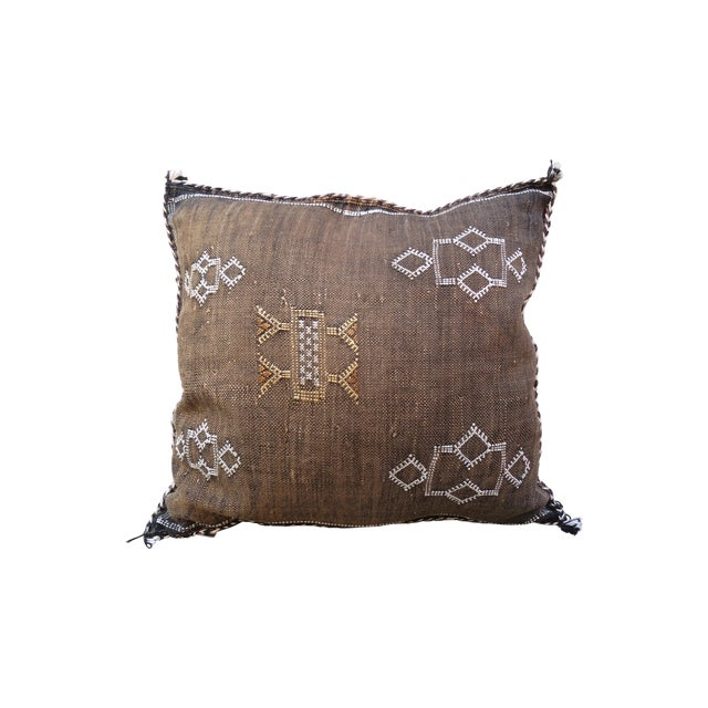Moroccan Sabra Cactus Silk Pillow - Image 1 of 3