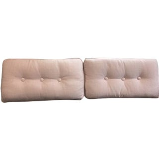 Clarke & Clarke Rose Button Pillows - A Pair