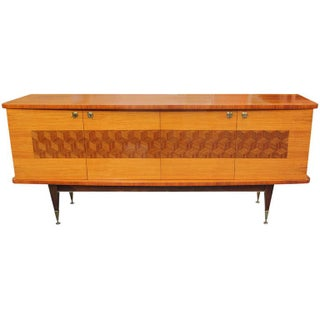 French Art Deco Palisander Marquetry Buffet