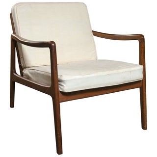 Ole Wanscher Mid-Century Teak Lounge Chair