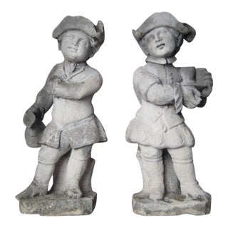 Pair of Limestone Statues