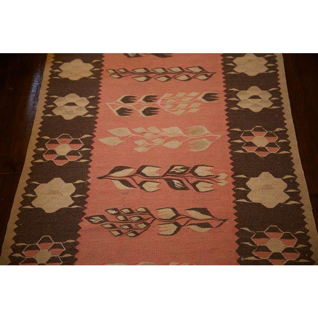 19th Century Pink and Brown Kilim Runner from Bulgaria - Image 2 of 5