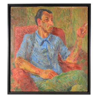 """Portrait of Nachman,"" 1943 Oil on Canvas"