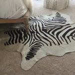 "Image of Zebra Hide Rug - 6'x4'5"""
