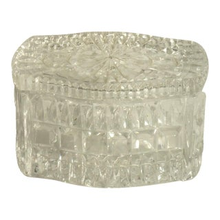Small Crystal Lidded Trinket Box