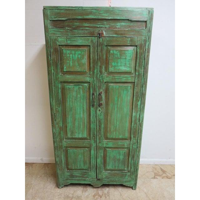 Antique Primitive Wardrobe Cupboard - Image 2 of 6