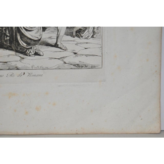 """Bartolomeo Pinelli Engraving """"The Sabine Rats Under the Rein of Romulus"""" c.1816 - Image 5 of 8"""