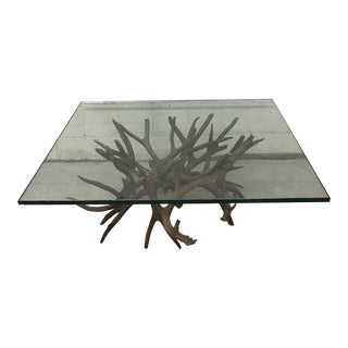 Antler Horn Glass Coffee Table