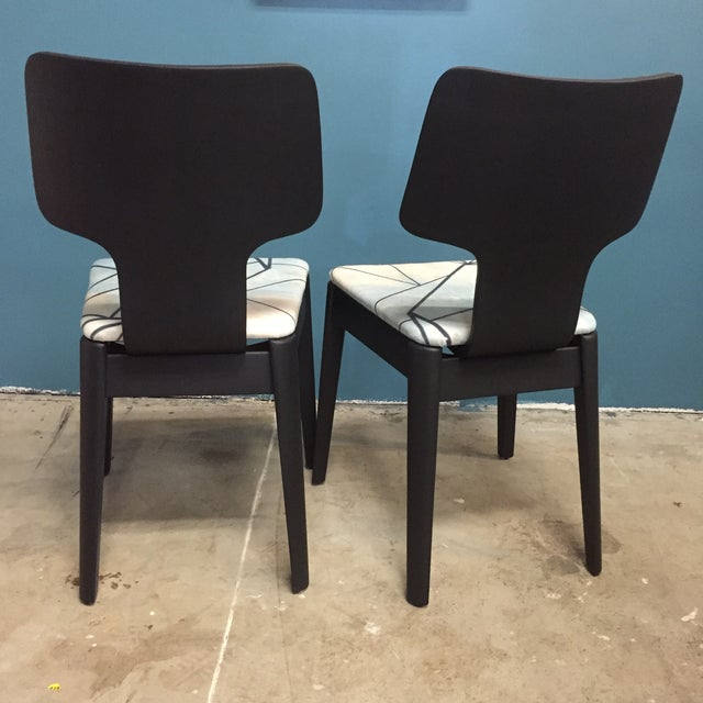 Black Mid-Century Bentwood Chairs - Pair - Image 4 of 5