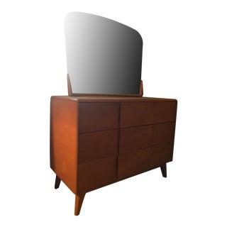 Heywood Wakefield Mid-Century Dresser & Mirror
