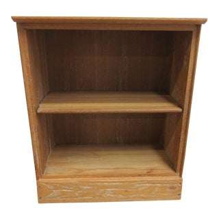Rare Petite Brandt Ranch Oak Texas Carved Bookcase