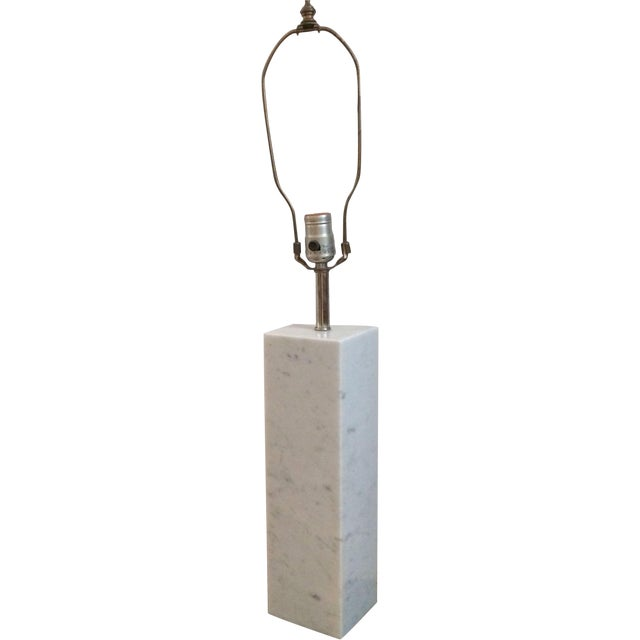 Image of Square Marble Table Lamp