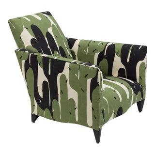 A 1940s Inspired Upholstered Armchair by Donghia USA 1970s