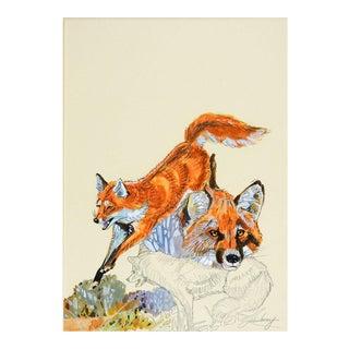 John Henry Red Fox Gouache