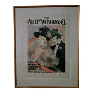 "Toulouse-Lautree ""The Ault Wiborg Co."" Lithograph"