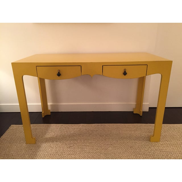 Bungalow 5 yellow lacquer desk chairish for Bungalow 5 desk
