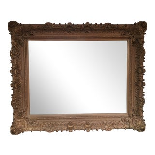 Wide Frame Gilt Wall Mirror