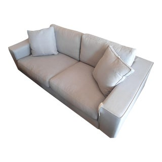 Thunder Gray Wide Arm Sofa, Comes w/ 2 Square Pillows