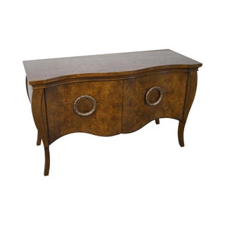 Drexel Burl Wood Serpentine Sideboard