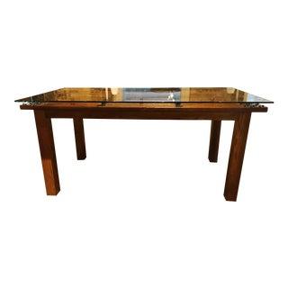 """Antique """"Door"""" Dining Table"""