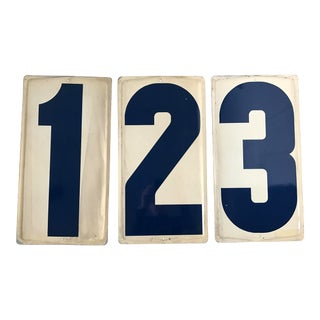 Vintage Gas Station Numbers