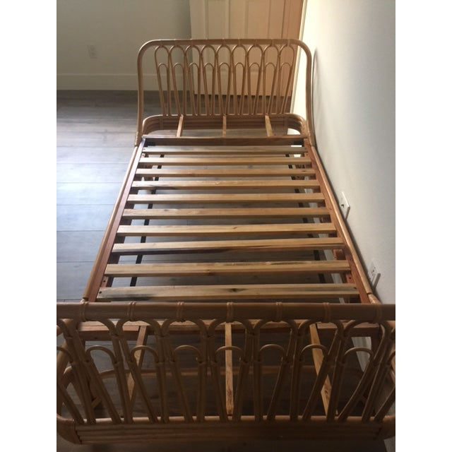 Boho Chic Rattan Twin Bed - Image 3 of 5