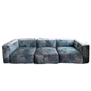 Custom Martyn Thompson Crushed Velvet Sectional Sofa by ABC Carpet & Home