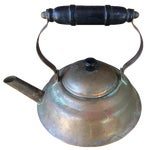 Image of Vintage Copper Tea Kettle with Bakelite Handle