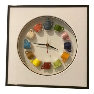 Ceramic Teacup Wall Clock