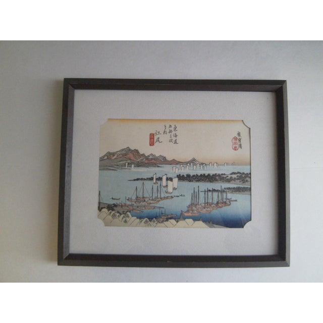 Japanese Wood Block Print by Hiroshige Ando - Image 2 of 11