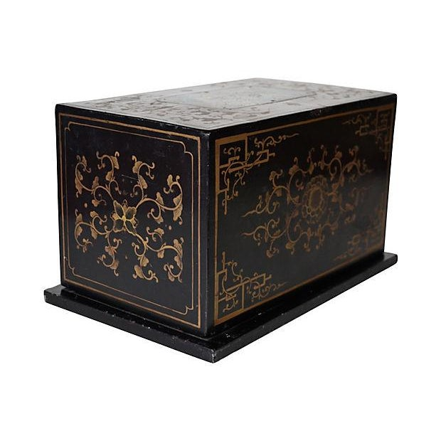 Antique Chinese Lacquer Box - Image 4 of 5